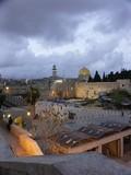 jerusalem old city at evening poster