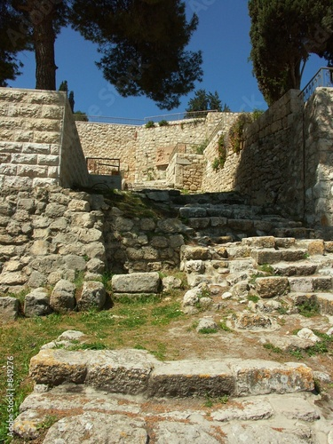 poster of ancient ruins in jerusalem