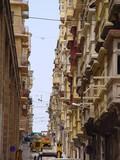 balconies in valletta, malta poster