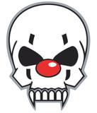 clown schädel poster