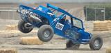 blue sand car landing poster