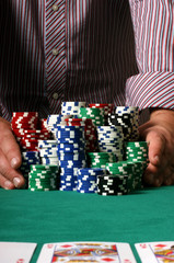 poker player going all in