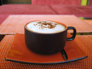 a soothing cappuccino - lovingly presented