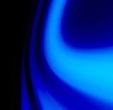 blue glow textile poster
