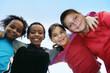 Leinwanddruck Bild - children diversity