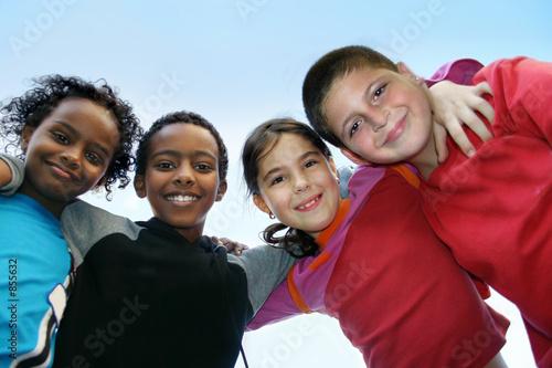 Leinwanddruck Bild children diversity