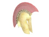 ancient greek crested helmet poster