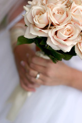 bride holding bouquet 3