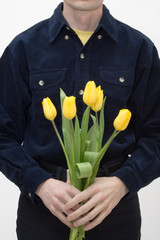 man with tulip