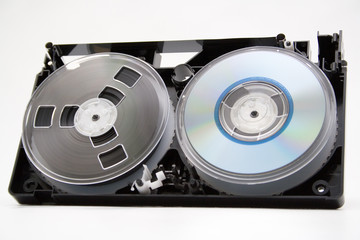 take to pieces vhs cassette and cd disc