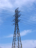 electricity transmission tower poster