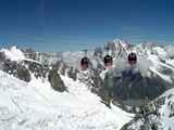 panoramic transport in the mont blanc region poster