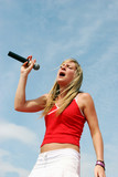 singer hits the high notes poster