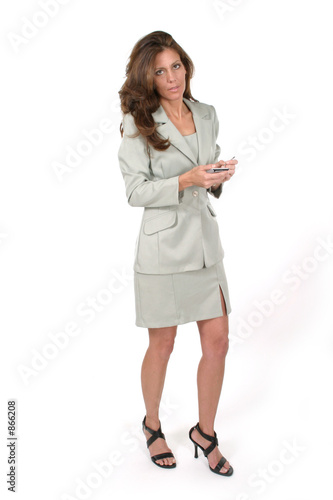 poster of business woman using pda 6