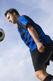 soccer - football player juggling poster