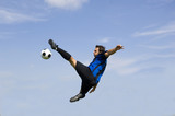 Fototapety football - soccer player volley