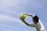 soccer - football goal keeper making save poster