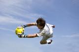 soccer - football goal keeper making save poster