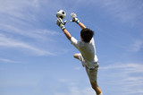 soccer football goal keeper making save poster