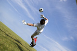 soccer football goal keeper making save poster
