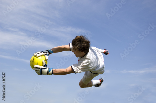 soccer - football goal keeper making save