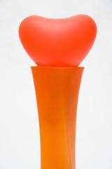 heart in vase