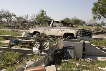 truck in new orleans ninth ward