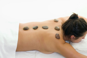 rejuvenation  with hot rock therapy
