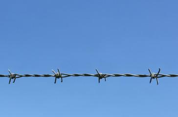 barbed barrier