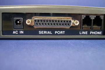 back side of a modem