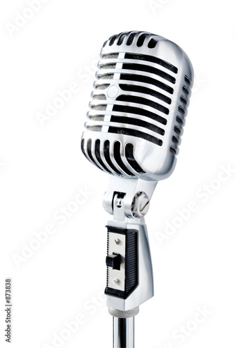 retro microphone over white - 873838