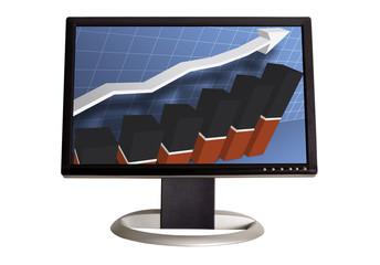 chart on monitor