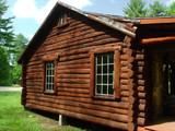 log cabin side poster