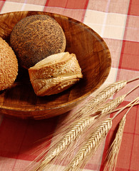 bandeja con pan