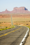 highway, monument valley panorama poster