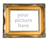 empty picture frame poster