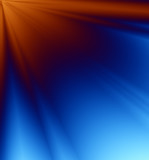 blue & orange rays of light poster