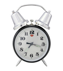 traditional alarm clock (white background)