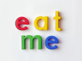 eat me fridge magnets poster