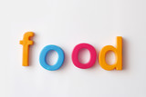 food fridge words poster