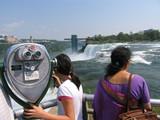 tourists admiring niagara falls poster