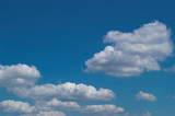 blue sky with white clouds at midday - image 24 poster