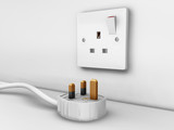 three pin plug and socket poster