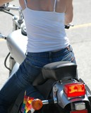 biker chick poster