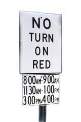 no turn when?