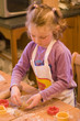 young girl baking