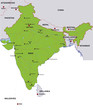 map india landkarte indien