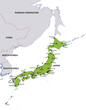 map japan landkarte japan