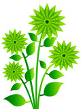 vector of plant flower 1 poster