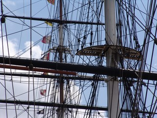 rigging on cutty sark sailing ship